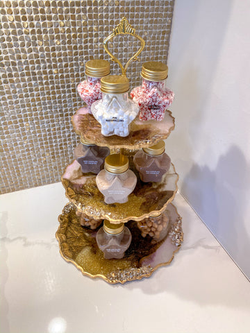 3-Tiered Resin Cake Stand-Inspire Me! Home Decor