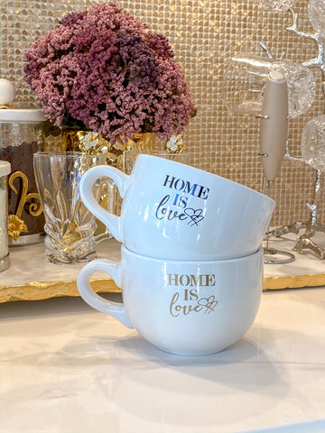 Home is Love Latte Mug (2 Text Colors)-Inspire Me! Home Decor