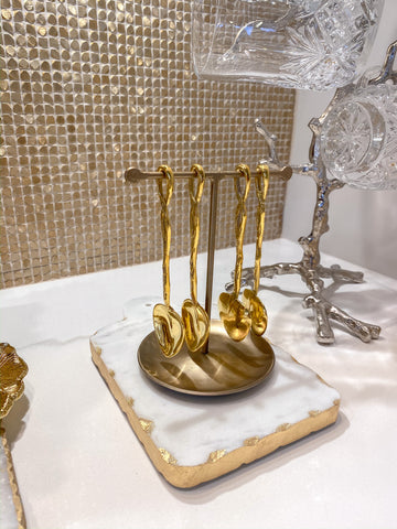 Gold Spoon/ Jewelry Holder-Inspire Me! Home Decor