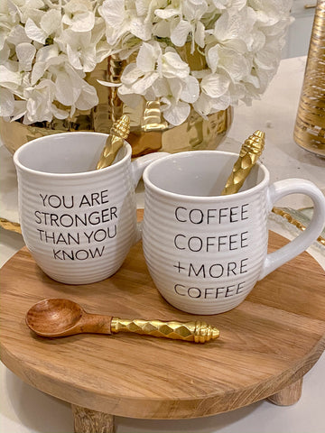Coffee Coffee + More Coffee Mug-Inspire Me! Home Decor