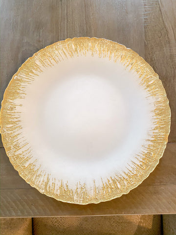 Gold Detailed Charger Plate-Inspire Me! Home Decor