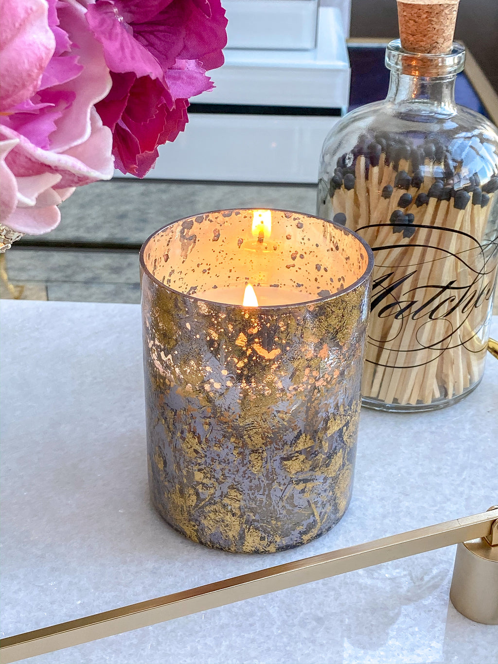 Gold Flake Mercury Soy Candle (Two Styles)