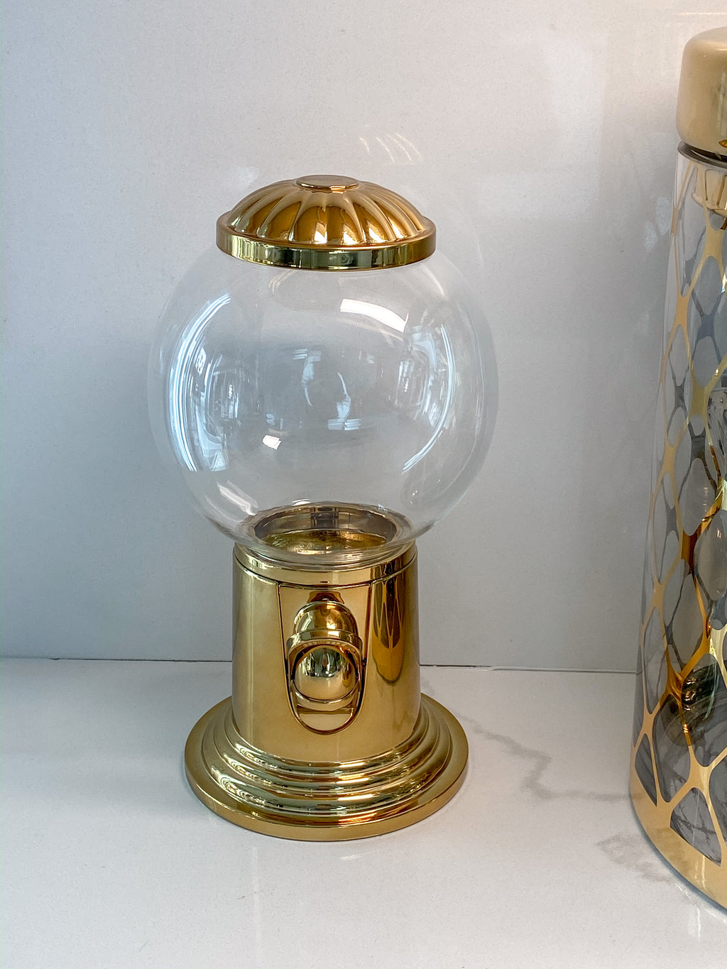 Gold Gumball Machine-Inspire Me! Home Decor