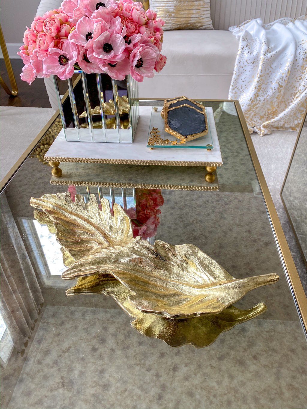 Gold Double Leaf-Inspire Me! Home Decor