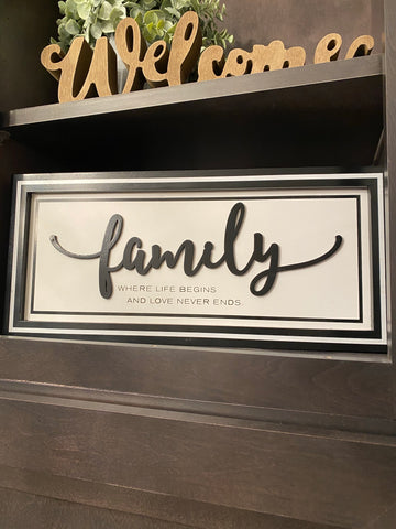 Black and White Wooden Home Signs (2 Styles)-Inspire Me! Home Decor