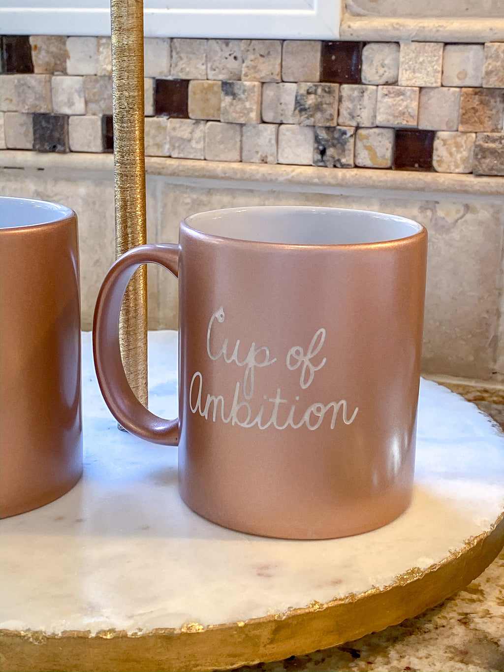 Rose Gold Engraved Cup of Ambition Mug