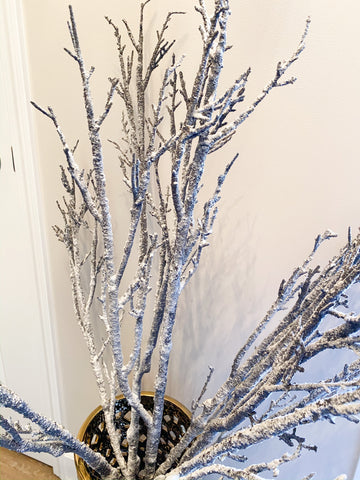 Snow Covered Branch-Inspire Me! Home Decor