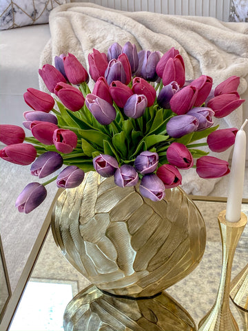 Real Touch Tulip Bouquet-Inspire Me! Home Decor