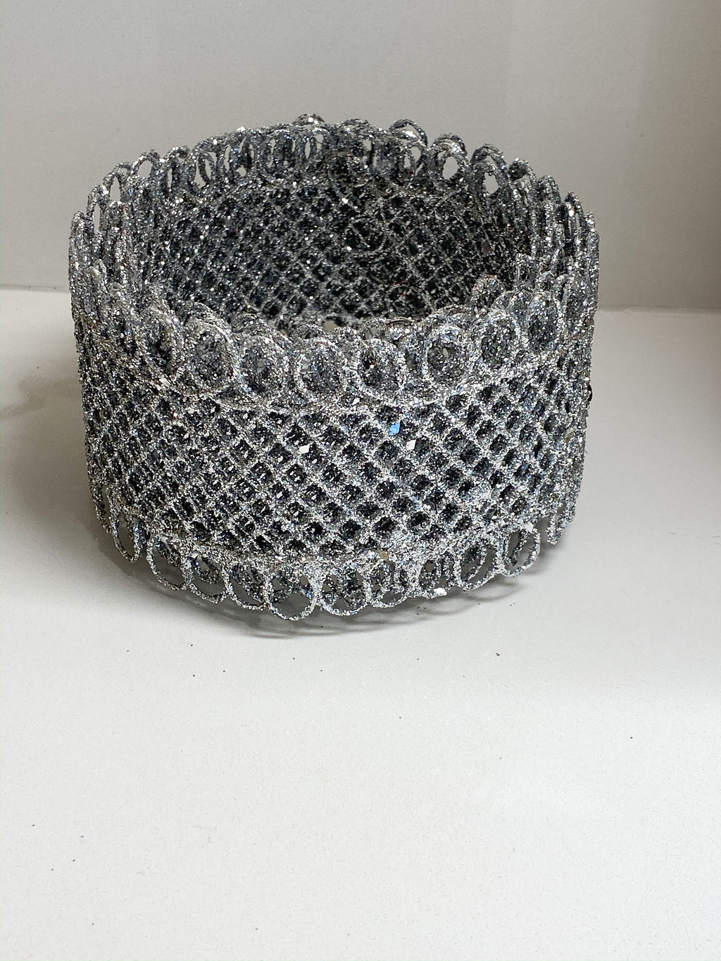 Silver Mesh Tree Wire Ribbon-Inspire Me! Home Decor