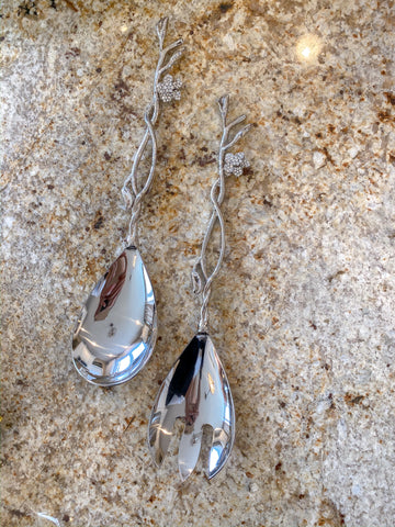 Crystal Detailed Leaf Spoon (Set of 2)-Inspire Me! Home Decor