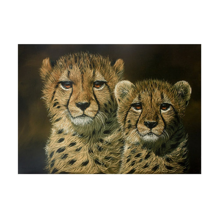 Cheetah Cubs Canvas, Painting - Asili Designs