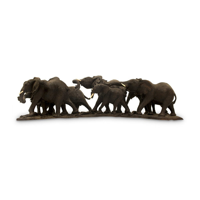 Elephant Herd Carving, Carving - Asili Designs