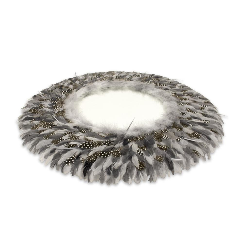 Guinea Fowl Feather Mirror