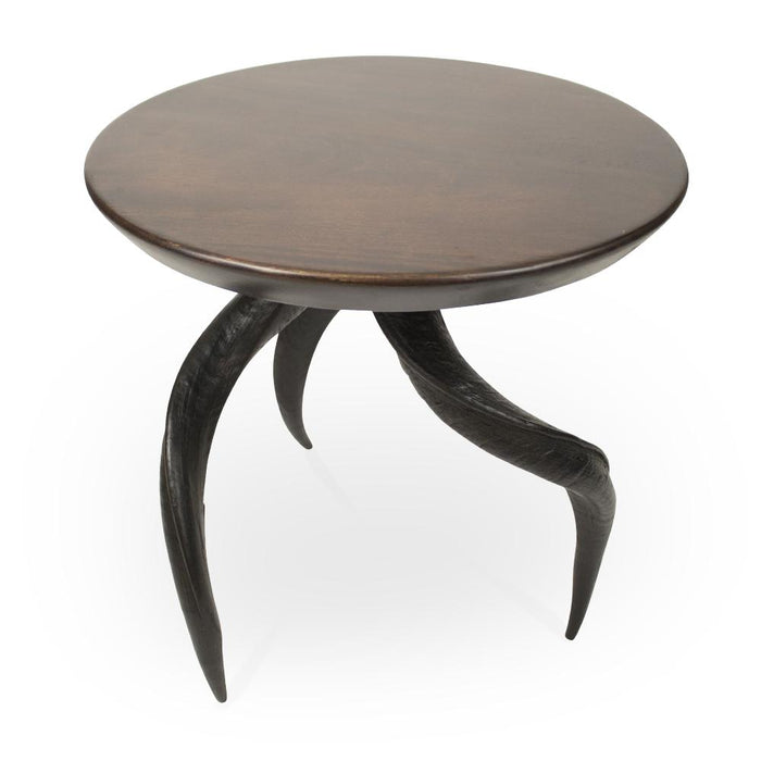 Mahogany Table with Kudu Horn Legs