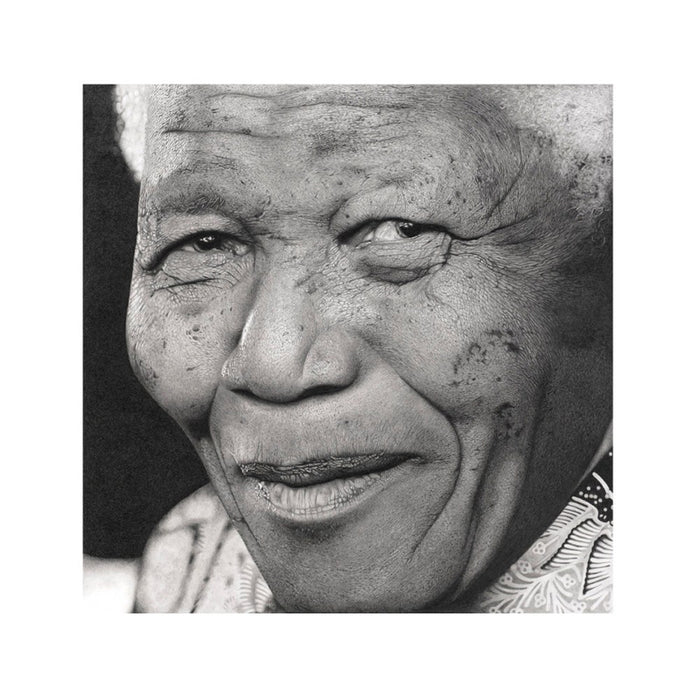 Nelson Mandela Pencil Drawing, Painting - Asili Designs