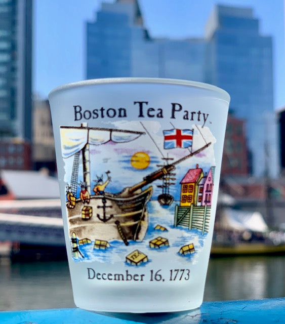 Boston Tea Party Frosted Shot Glass
