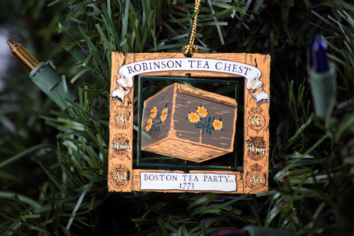 Boston Tea Party Ships & Museum Robinson Half Chest Brass Ornament
