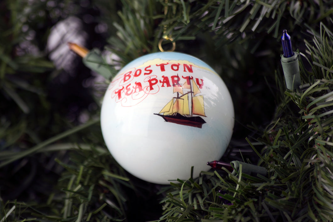 Boston Tea Party Ships & Museum Glass Ball Ornament