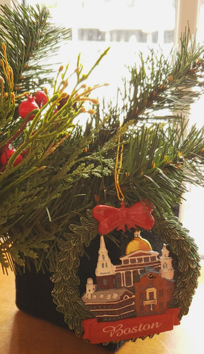 Historic Boston Wreath Holiday Ornament