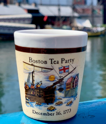 Boston Tea Party Ceramic Shot Glass