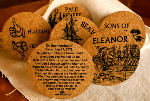 Boston Tea Party Ships & Museum Cork Coasters