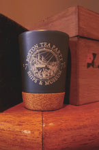 Boston Tea Party Cork bottomed ceramic Shot Glass