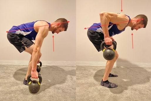Bent Over Row with Cervical Retraction