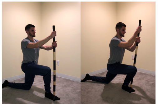 Half Kneel Dorsiflexion Mobilization with Dowel