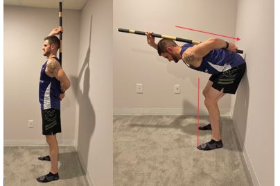 Hip Hinge With Wall Touch