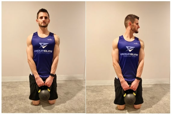 Tall Kneeling Cervical Rotation with Anterior Load