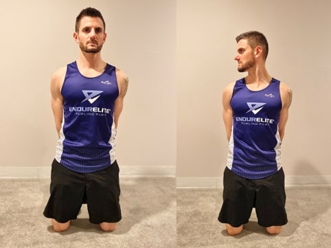 Tall Kneeling Cervical Rotation with Posterior Load