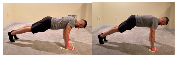 Top Plank Scapula Protraction and Retraction