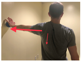 ball on wall advanced shoulder exercise