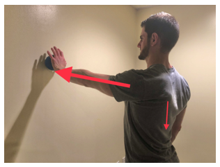 ball on wall shoulder exercise
