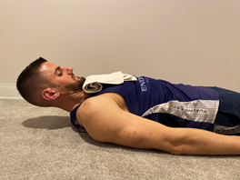 cervical flexion with chin tuck