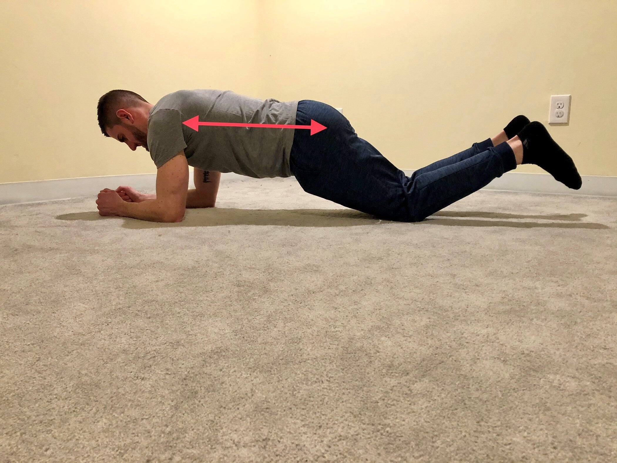modified plank exercise for your core