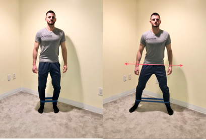 resisted hip side stepping exercise