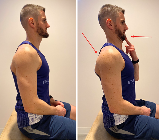 seated cervical retraction