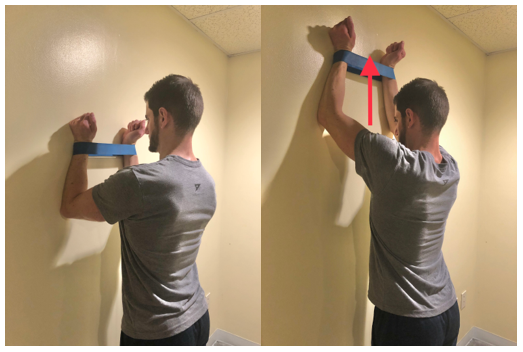 serratus anterior wall slide shoulder exercise
