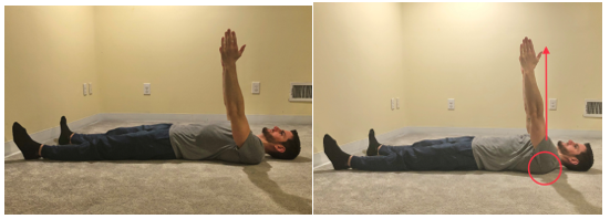 supine serratus punch shoulder exercise