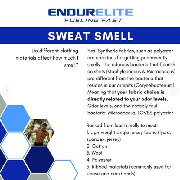 where does sweat smell come from?