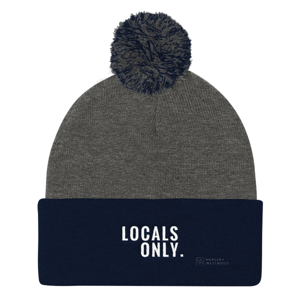 """Locals Only"" Beanie by Mercer + Westwood-Beanie-Mercer + Westwood-Dark Heather Grey/ Navy-Mercer + Westwood"