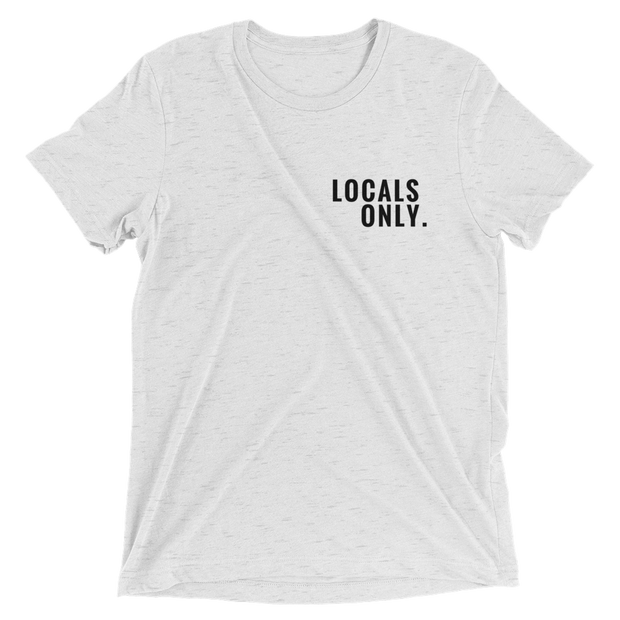 "Men's ""Locals Only"" Short Sleeve T-Shirt in White by Mercer + Westwood-Mercer + Westwood-XS-Mercer + Westwood"