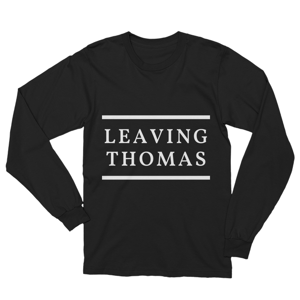 "Women's ""Leaving Thomas"" Long Sleeve Crew Neck T-Shirt in Black by Mercer + Westwood"