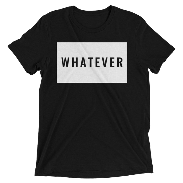 "Men's ""Whatever"" Short Sleeve T-shirt in Black Triblend by Mercer + Westwood-Mercer + Westwood-XS-Mercer + Westwood"