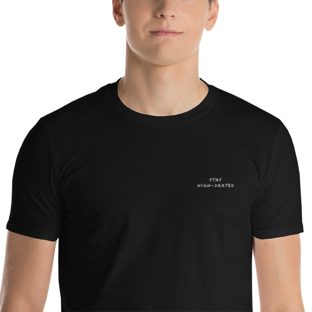 "Men's ""Stay High-Drated"" Short-Sleeve Crew Neck T-Shirt in Black by Mercer + Westwood"
