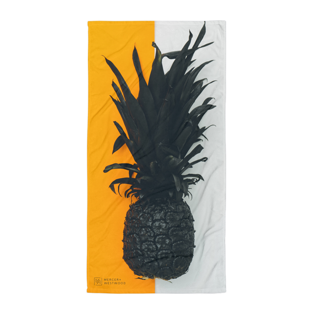 "Beach Towel ""Half Pineapple"" in White by Mercer + Westwood-Mercer + Westwood-Mercer + Westwood"