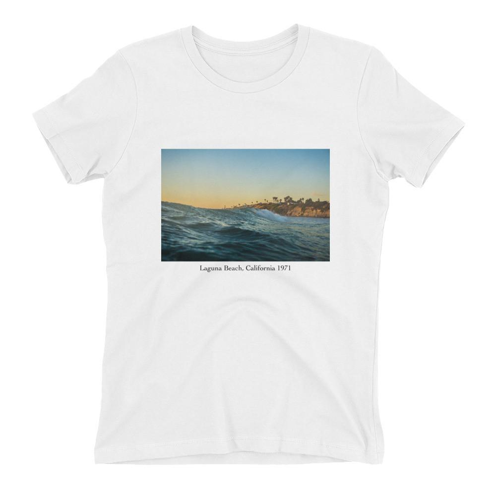 "Women's ""Laguna Beach"" Boyfriend-Fit T-Shirt-Mercer + Westwood-XS-White-Mercer + Westwood"