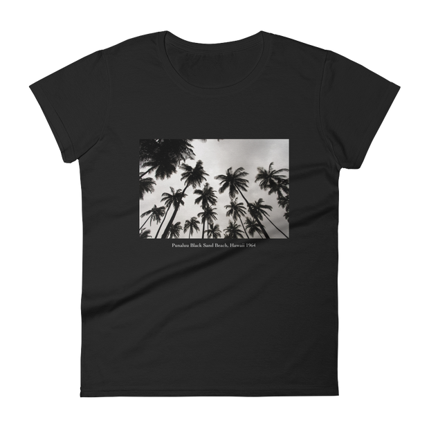 "Women's ""Punaluu Beach"" Short Sleeve T-Shirt in Black by Mercer + Westwood-Mercer + Westwood-S-Mercer + Westwood"