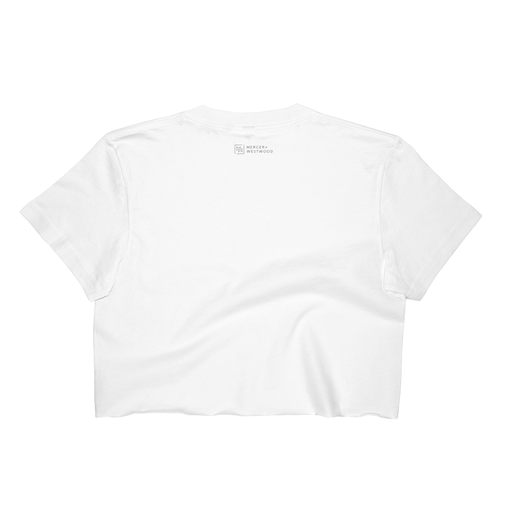 "Women's ""Rocky Beach"" Crop Top-Crop Top-Mercer + Westwood-S-White-Mercer + Westwood"